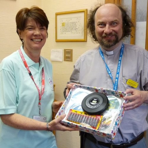 CDs donation to Chaplain